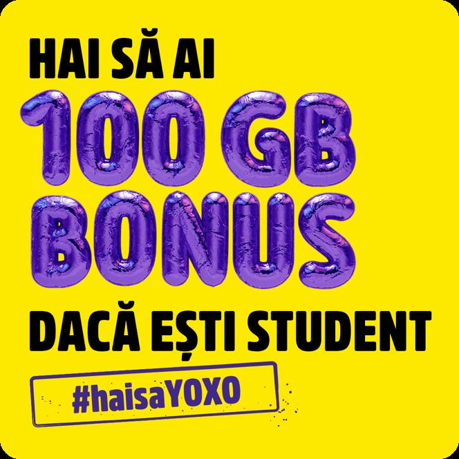 100GBB Bonus daca esti student